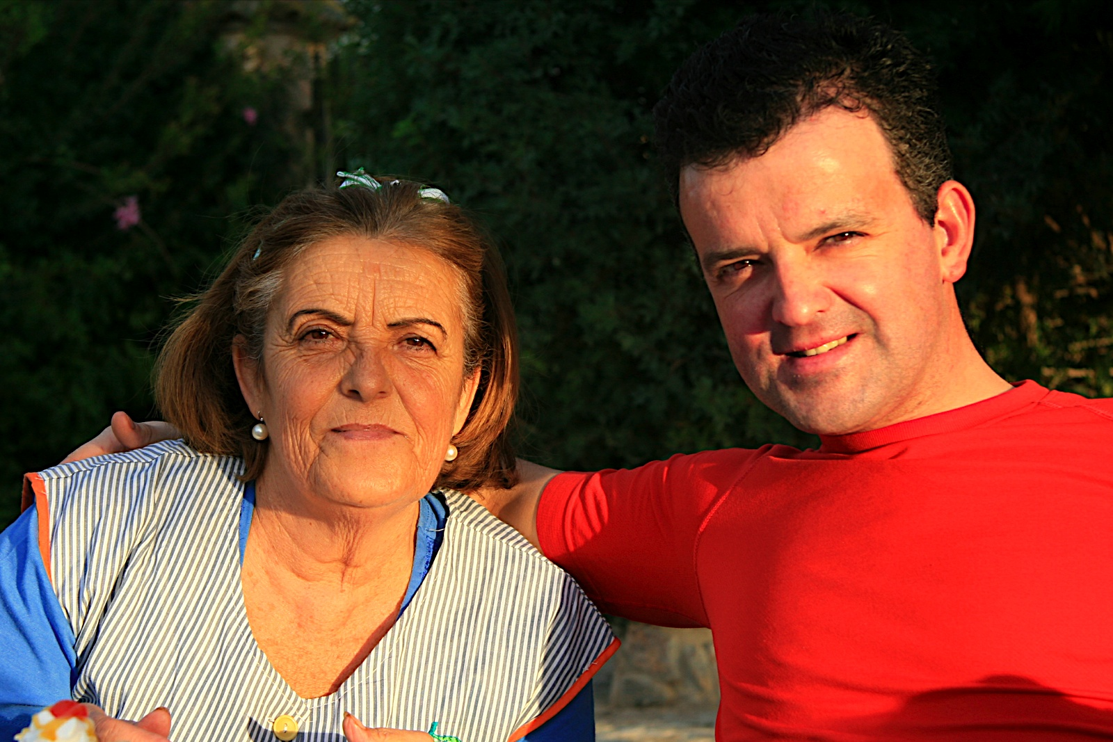 Martín y su Madre.